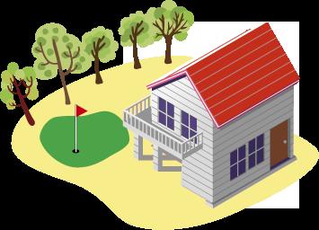 ゴルフへの人工芝活用のアイコン