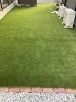 お庭に人工芝を施工してきれいになった写真